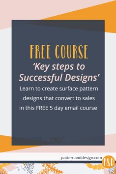 FREE 5 day course: Key Steps to Successful Designs. Learn the step by step process to create successful surface pattern designs that convert to sales Kids Patterns, Patterns In Nature, Textile Patterns, Print Patterns, Surface Pattern Design, Pattern Designs, Textile Design Courses, Sketching Techniques, Painting Techniques