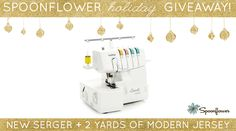 Ready to take your knit-sewing skills to the next level?Well the holidays aren't here yet, but we're already in the giving spirit.One lucky winner will take home a brand new Brother1034D FourThread Serger and two yards of our most popular snuggly stretch-knitfabric, Modern Jersey!Enter by Thursday, November19th, 2015for a chance to win. Thewinner will be notified via emailon Friday, November 20th.
