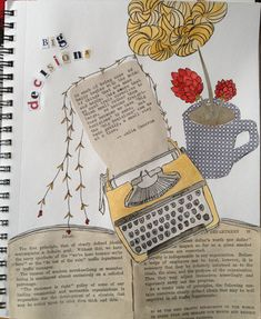 WIP- art journal #4, by Laura Bucci   . . . .   ღTrish W ~ http://www.pinterest.com/trishw/  . . . .