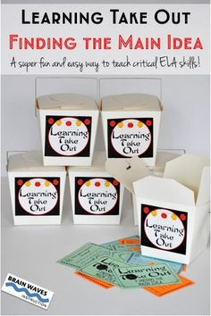 Learning Take Out is a HUGE hit in my classroom, and I have a feeling your students will love it too! With Learning Take Out students are super engaged while practicing and targeting specific ELA skills. Filled with a mini-lesson on Finding the Main Idea and 18 skill-targeted task cards, students are actively engaged with their learning!