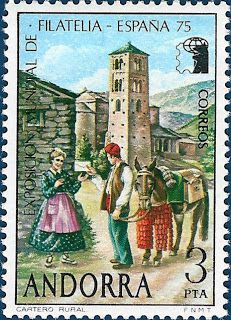P8 Buttons & Fabrics: Traditional Costumes : Postage Stamps Andorra 2