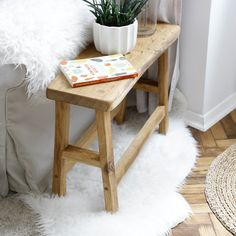 WOOD BENCH/ SIDE TABLE