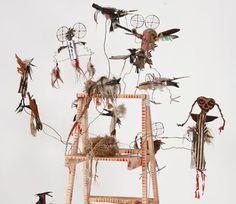 Brad Kahlhamer, Bowery Bird Roost (detail,) 2012. Mixed media. Courtesy Andréhn-Schiptjenko, Stockholm