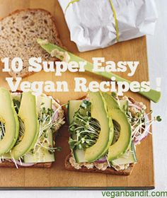 10 Super Easy Vegan Recipes -You probably find yourself in a hurry and have no time to prepare something to eat.You have many easy vegan recipes that are cheap, easy to prepare and healthy. We have troubles choosing which one should we bring on this lis Vegan Dinner Recipes, Vegan Recipes Easy, Raw Food Recipes, Vegetarian Recipes, Cooking Recipes, Easy Vegan Food, Cheap Vegan Meals, Ovo Vegetarian, Vegan Foods