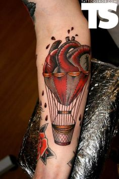 Anatomical hot air balloon by Kerry Anne. Poetic!