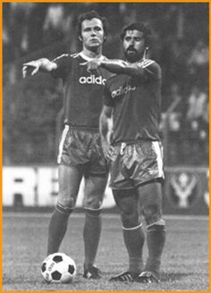 Beckenbauer and Muller 1969 Retro Football, School Football, Soccer Stars, Sports Stars, Uefa European Championship, Germany Football, Sports Personality, Association Football, Soccer News