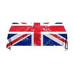 Tafelkleed Britse vlag   Fleur je keuken op met dit weerbestendige tafelkleed bestaande uit geweven linnen met PVC.   #tafelkleed #keukentextiel #keuken #kleed #pvc #print #opdruk #tafel #weerbestendig #vlag #brits #engeland #grootbrittannie #verenigdkoningkrijk