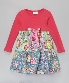 Look at this Hot Pink Kaleidoscope Tiered Dress - Toddler & Girls on #zulily today!
