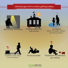 Be aware! Here are some warning signs that a child is getting bullied... #bullying #BullyNoMore