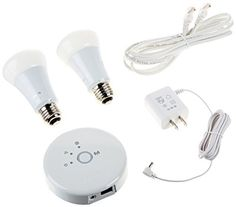Philips 452714 Hue Lux Starter Kit 2 Bulbs and 1 Bridge with Extensions 9W 60Watt A19 1st Generation Works with Amazon Alexa ** Be sure to check out this awesome product.Note:It is affiliate link to Amazon. #s4s