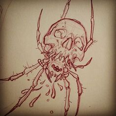 SKULLTULA. My rendition of a fiend from the Zelda games. Spencer J. come on down! you're the next contestant on OMFGMYKNEEWHY?!?! #sucker mike moses www.thedrowntown.com #spiritustattoo