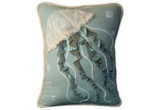 Lustrous Jellyfish Pillow