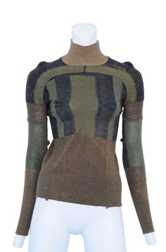 maison margiella military sock sweater