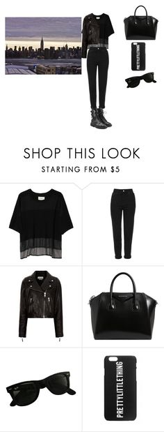 """black"" by suz-anne-2006 on Polyvore featuring Public School, Topshop, Étoile Isabel Marant, Givenchy, Ray-Ban, Giuseppe Zanotti and Night"