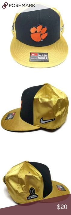 55c1bf5fa33 Nike Clemson Tigers 2016 National Championship Hat Nike Clemson Tigers Gold  2016 National Championship Locker Room