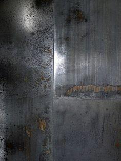 Modern Industrial Metal Wall Tile FT Industrial in pendant lighting metal Fireplace Facade, Fireplace Wall, Fireplace Design, Metallic Wall Tiles, Metal Industrial, Screened Porch Decorating, Muebles Living, Tile Covers, Metal Screen