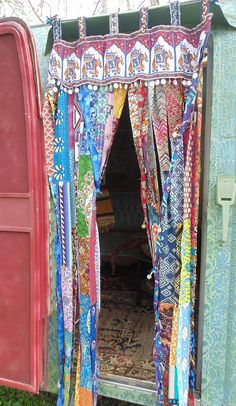 Elephant door curtain boho chic decor bohemian doorway DIY