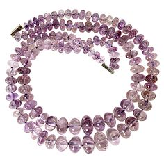 Double Strand Amethyst Bead Necklace | See more rare vintage Beaded Necklaces at http://www.1stdibs.com/jewelry/necklaces/beaded-necklaces
