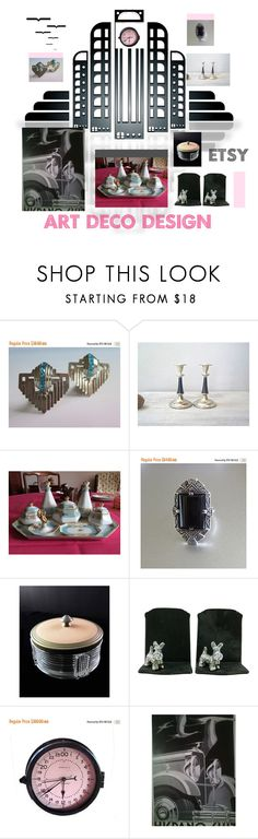 """Art Deco Designs"" by anna-ragland ❤ liked on Polyvore featuring Noritake and Etsyfinds"