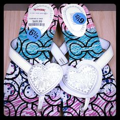 Coach Poppy White/Multi-colored Sandals Flip Flops ●NWT 100% AUTHENTIC      °Size: 6 1/2      °Signature 'C' pattern      °Exclusive item •MSRP: $98 •Listing price: $30 off MSRP!  -Happy Buying ! Coach Shoes Sandals