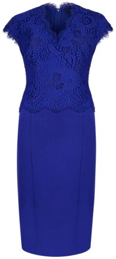 Ted Baker Scallop Lace Bodice Dress, Purple on shopstyle.co.uk