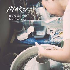 Photo Credit:Ashley Lynn Richards. Meet Jen Kuroki, the maker behind the brand Jen E Ceramics.