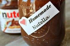 How to Make Homemade Nutella right in your own kitchen with just a few simple ingredients! More nutty than store-bought Nutella and also not quite as sweet, . Delicious Desserts, Dessert Recipes, Yummy Food, Dessert Healthy, Homemade Nutella Recipes, Homemade Breads, Recipe Girl, How To Make Homemade, Diy Food