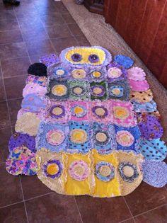 catepillar rag quilt by SimplyHomespun14 on Etsy