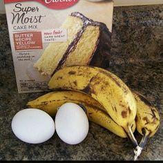 Easy 3 Ingredient Banana Bread