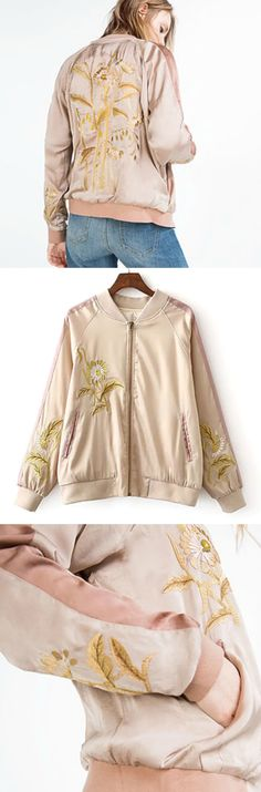 $75 - Pink Embroidery Bomber Jacket is Now Available at Pasaboho ( Free Shipping Worldwide ) *This Fashion Jacket exhibits unique embroidered patterns. Fashion trend and styles from hippie chic, modern vintage, gypsy style, boho chic, hmong ethnic, street style, geometric and floral outfits.  We Love boho style and embroidery stitches. Free Spirit hippie girls sharing woman outfit ideas. bohemian clothes, cute dresses and skirts.