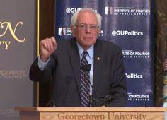 Bernie Sanders Democratic Socialism Speech Georgetown University. He Hits A Home Run That Could Change America.