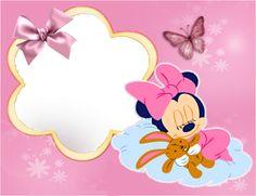 Photo montage minnie y bebe - Pixiz Mickey Mouse E Amigos, Fiesta Mickey Mouse, Mickey Mouse Parties, Mickey Mouse And Friends, Mickey Mouse Birthday, Disney Frames, Minnie Baby, Cute Frames, Baby Art