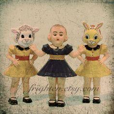 Vintage Dolls Art Hard Plastic Dolls Photography Print by frighten