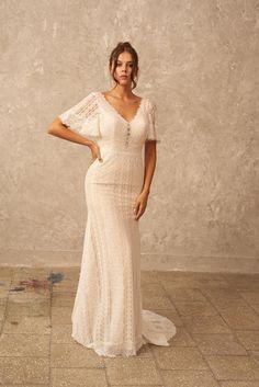 Lace Wedding Dress Fairy Wedding Dress Boho Wedding Dress | Etsy