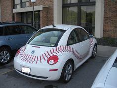 Basball car or you could even do a softball car and change the color Baseball First, Baseball Pants, Baseball Stuff, Beetle Bug, Vw Beetles, Rangers Baseball, Baseball Players, Bug Car, Volkswagen Models