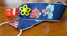 Paci Clip with Vintage Blue Ribbon & by PurpleFairyCreations, $2.00