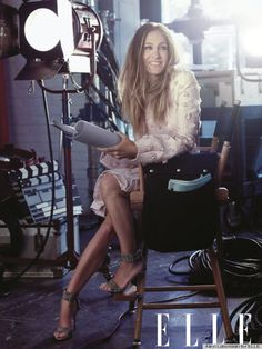 Sarah Jessica Parker Elle outtake photo. They should have used this one on the cover.