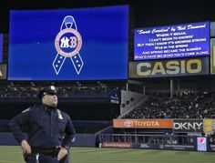 The tribute to the Red Sox carried inside Yankee Stadium for New York's game vs. the Arizona Diamondbacks. #BostonStrong