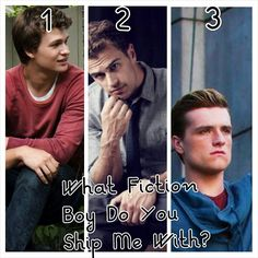 What fictional boy do you ship me with Gus, Tobias or Peeta?