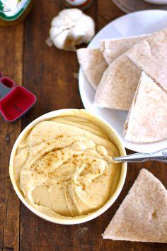 Silky Hummus. The secret is peeling the chickpeas!