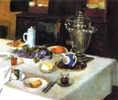 Igor Grabar (Russian, 1871-1960) - Morning Tea (1939~54)