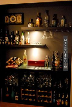 So good - Cigar Rooms - IKEA Hackers: Closet isnt LACKing anything as a Bar | Check out more ideas for Cigar Rooms at DECOPINS.COM | #cigarrooms #cigar #cigars #mancaves #masterbathrooms #bedroom #bedrooms #bathroom #bathrooms #homedecor #beds #interiordesign #home #homedecoration #design