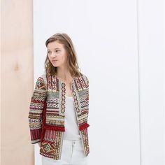 Chaqueta etnica abalorios Zara excelente estado por 1,00EUR en The Market - Trendtation