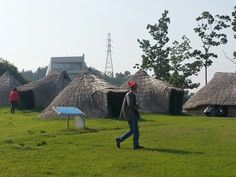 Restored ancient houses of Bronze Age of Korea