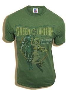 Junk Food The Green Lantern Comic Girl Cactus Green Mens T-shirt