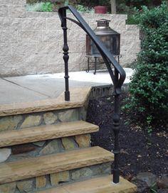 handrails by Artistic Railings Patio Railing, Railings, Aluminum Handrail, Outdoor Steps, Iron Work, Iron Gates, Front Porches, Porch Ideas, Fencing