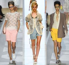Shorts for summer 2012. Pastels are hot this year!