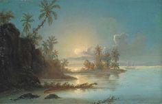 FERDINAND BELLERMANN (1814-1889) Sunset in the Orinoco delta