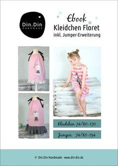 """Nähanleitungen Kind - Ebook Kleidchen/Jumper """"Floret""""  - ein Designerstück von dindin-handmade bei DaWanda"""