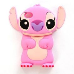 3D Disney Stitch Mobile Ear Flip Cover Case for iPhone